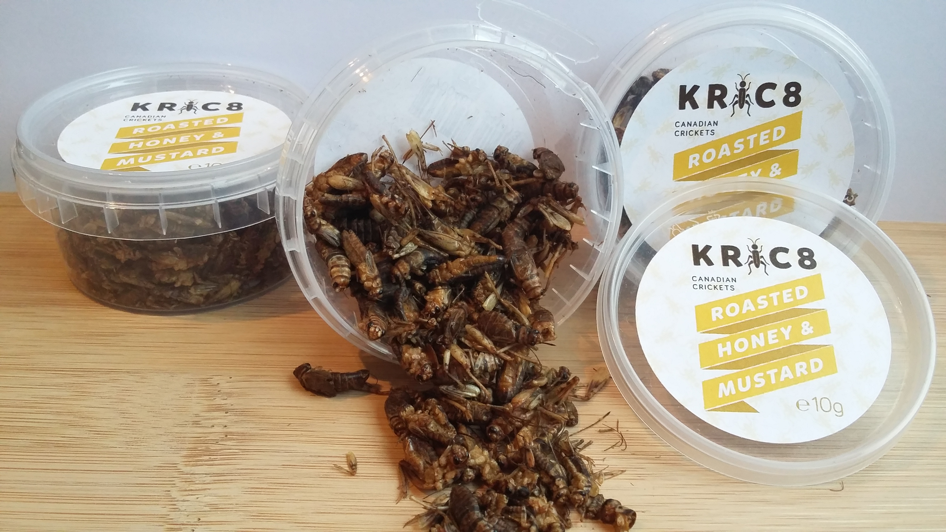 honey & mustard crickets